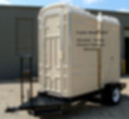 trailer, mounted dual, portable, toilets, model 350T, comfort stations, showers