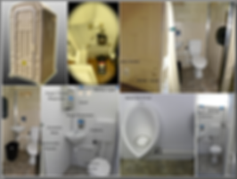 hand wash, flush toilet, ceramic fixtures, no chemicals, no waste in stall