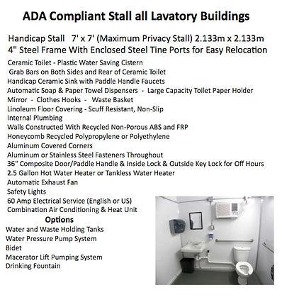 Disabled, Handicap, ADA Compliant, Fresh Water , Hand Wash,