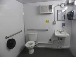 Inside of the No Ramp ADA Lavatory