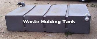 waste, holding, tank, gallon, liter, black, plastic