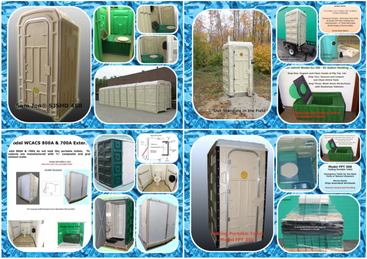 Trailer Mountable Portable Toilets