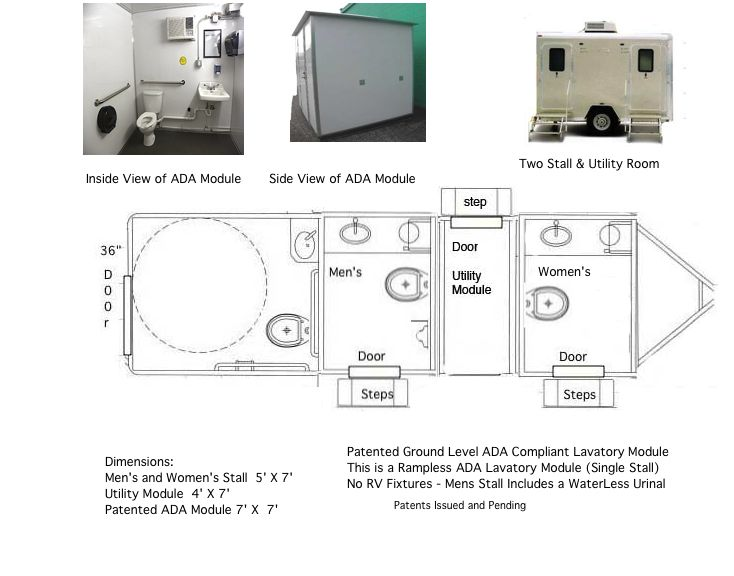 Toilet Trailer with ADA Module