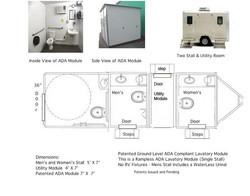 Toilet Trailer with ADA Module