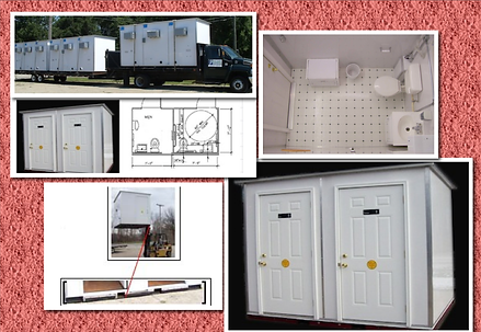 Ground Level, Trailer Mounted Lavatory, Handicap, ADA