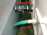 hose, water, hook up, waste, lines