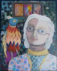 Self-portrait of artist Christine Alexander