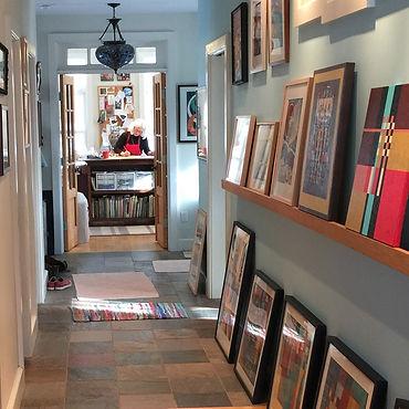 Artist Christine Alexander in her studio
