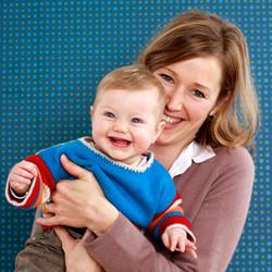 Kind Mama Foto Leinwand