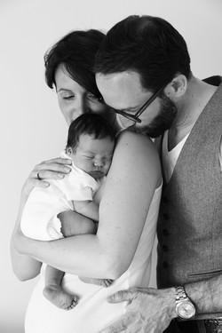 Familienfoto Baby Mann Frau