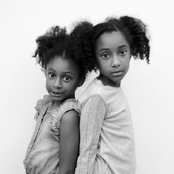Kinderfoto Geschwister Mädchen