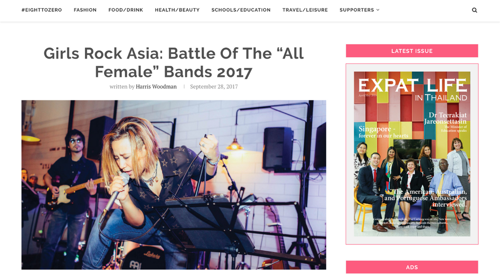 """Girls Rock Asia: Battle Of The """"All Female"""" by Expat life in"""