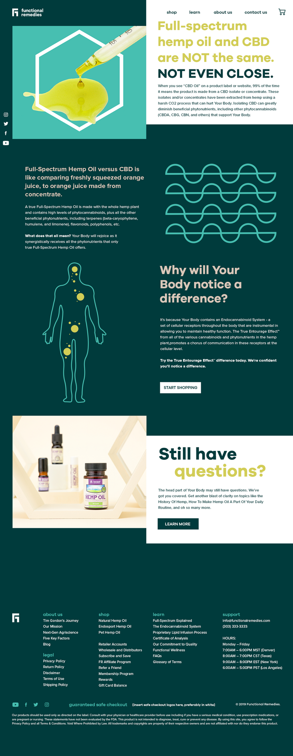 Website Layout for Functional Remedies