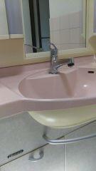KVK製 洗面水栓交換 清水区