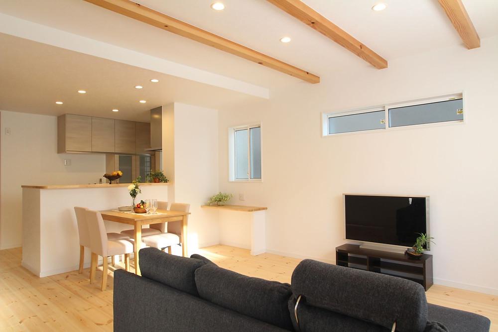 清水区 静岡市 新築 販売会 オープンハウス 三和建設 大仙 リビング エアコン キッチン