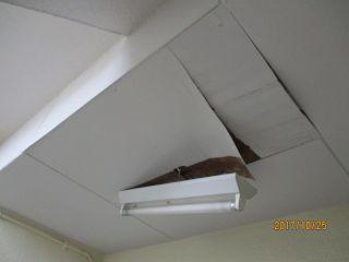 天井補修 アパート共用部 清水区 照明器具落下