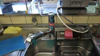エコシングル水栓  水栓金具交換