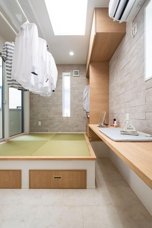外干し 部屋干し 大仙 三和建設 見学会 洗濯物 快乾空間