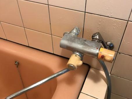 浴室壁出し水栓交換