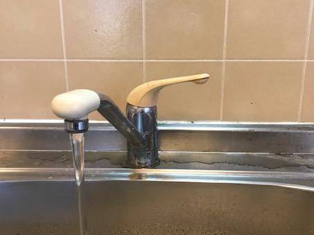 キッチン水栓金具交換