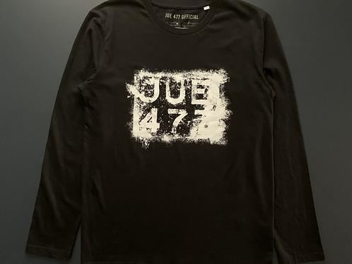 JUE 477 Patina Reg'— Black Long sleeve T-shirt