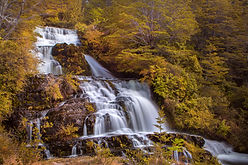 A waterfall in Patagonia, Chile