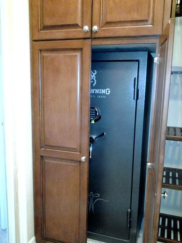 Safe/Gun Rack cabinets