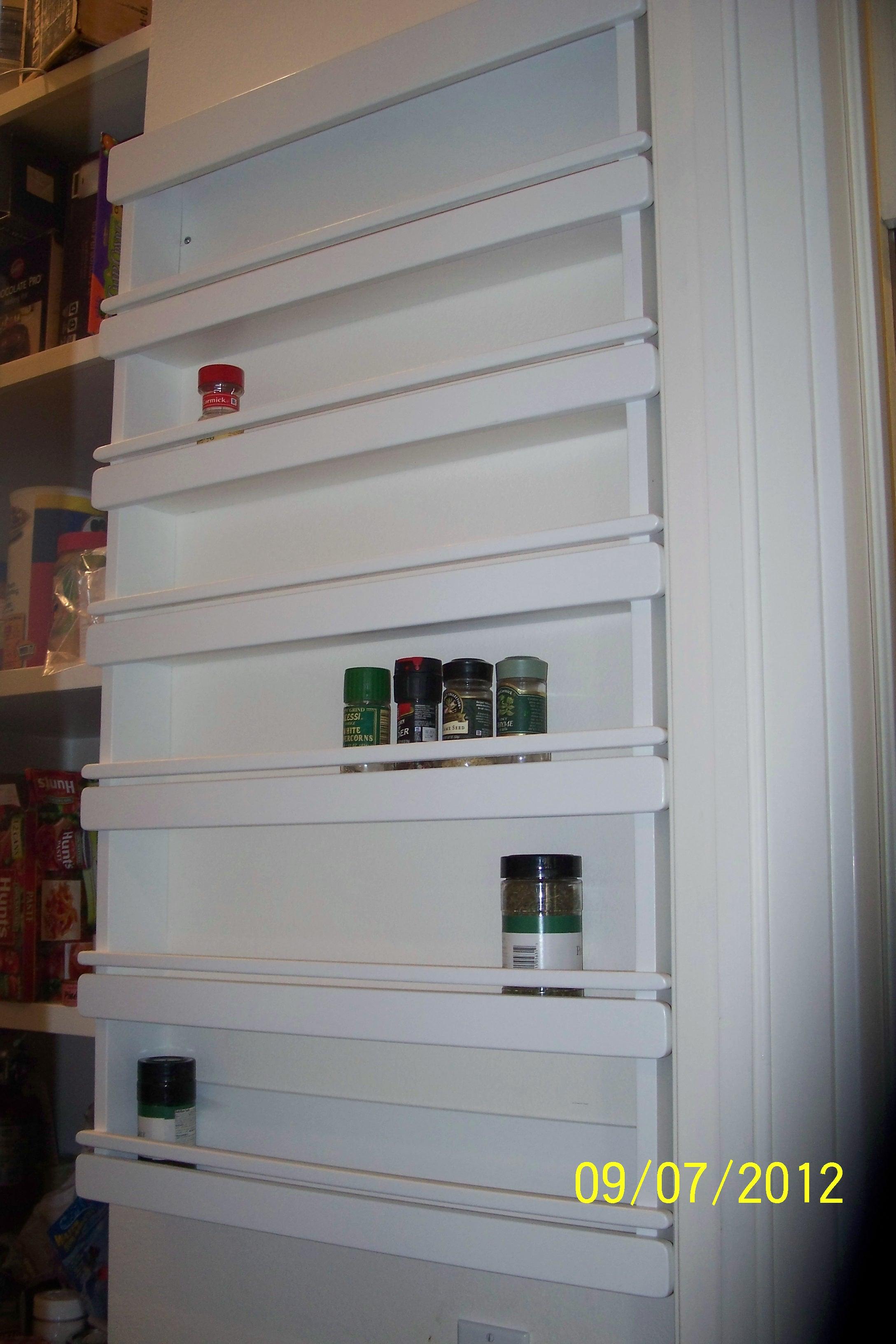 Spice rack doors