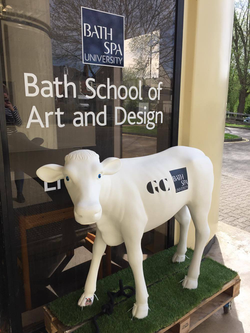 Bath Spa Fundraising Cow