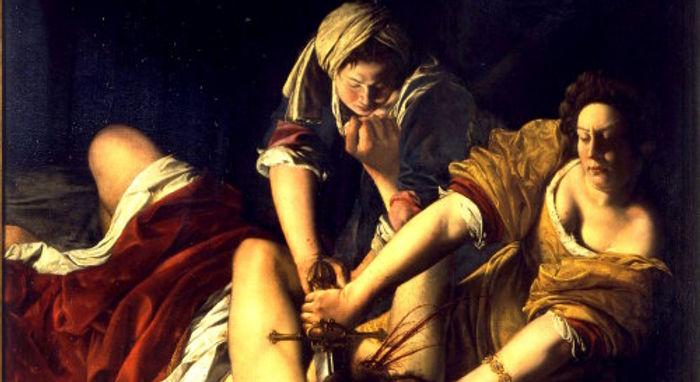 Judit decapitando a Holofernes (Artemisia Gentileschi).