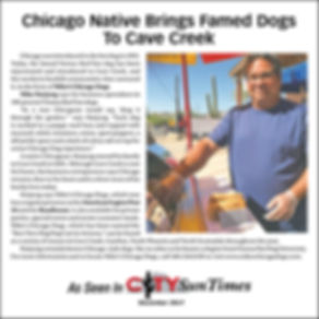 City Sun Times article on Mike's Chicago Dogs