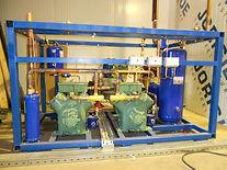 Промышленный холодильный агрегат для камеры хранения мороженного 100 тонн