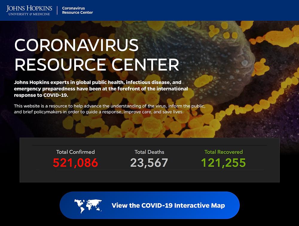Johns Hopkins Coronavirus Resource Center