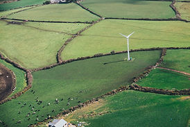 Drone Kent Sevices windmill on Rolling Hills