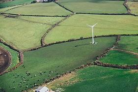 Foto aérea de um campo