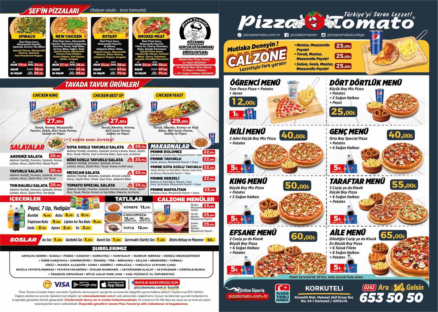 pizza tomato korkuteli menu