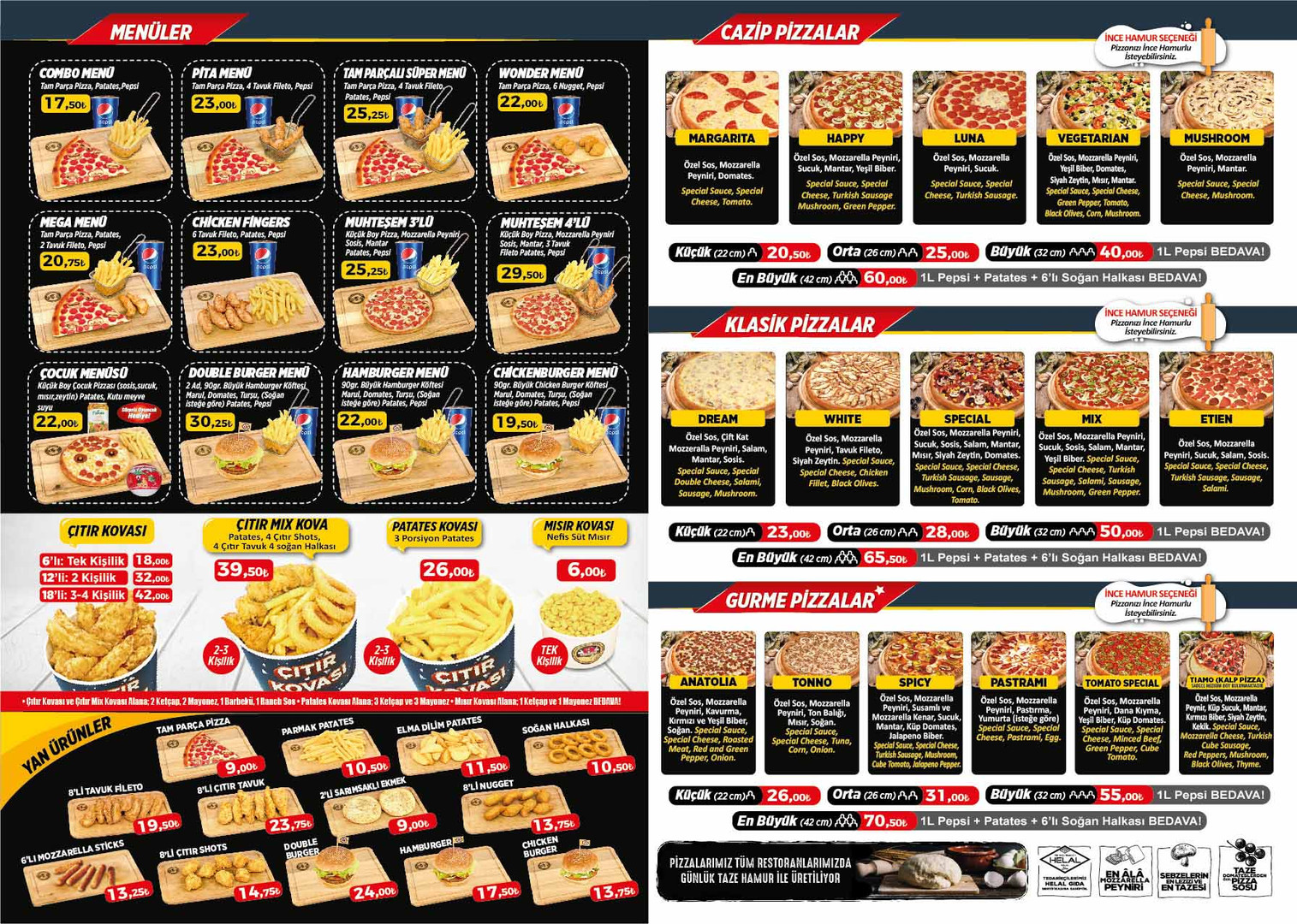 pizza tomato korkuteli menu ic
