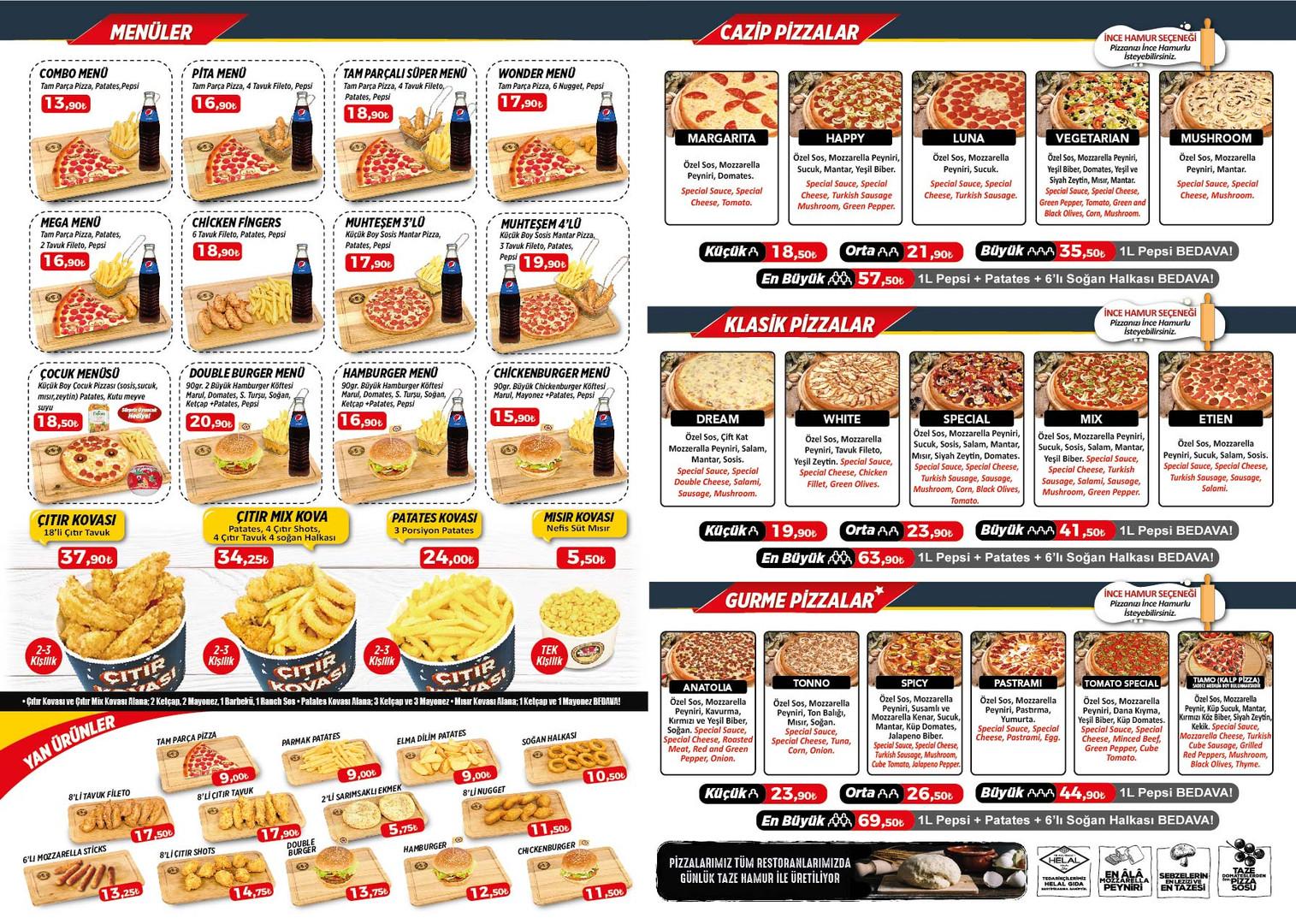 Pizza Tomato ortahisar menu arka sayfa.j