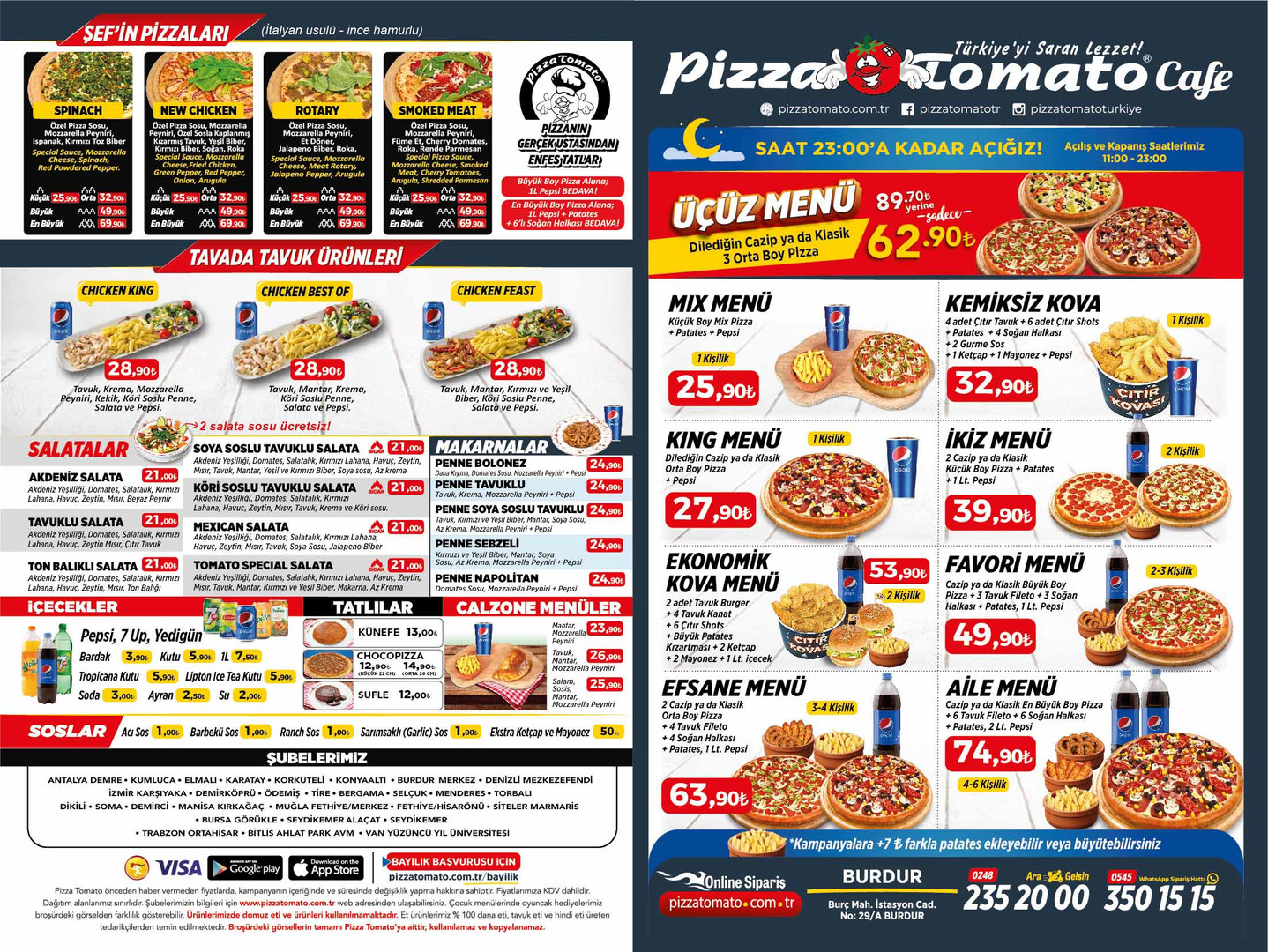 burdur pizza tomato menu