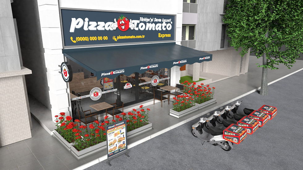 Pizza Tomato Express Şube Render (1 of 2