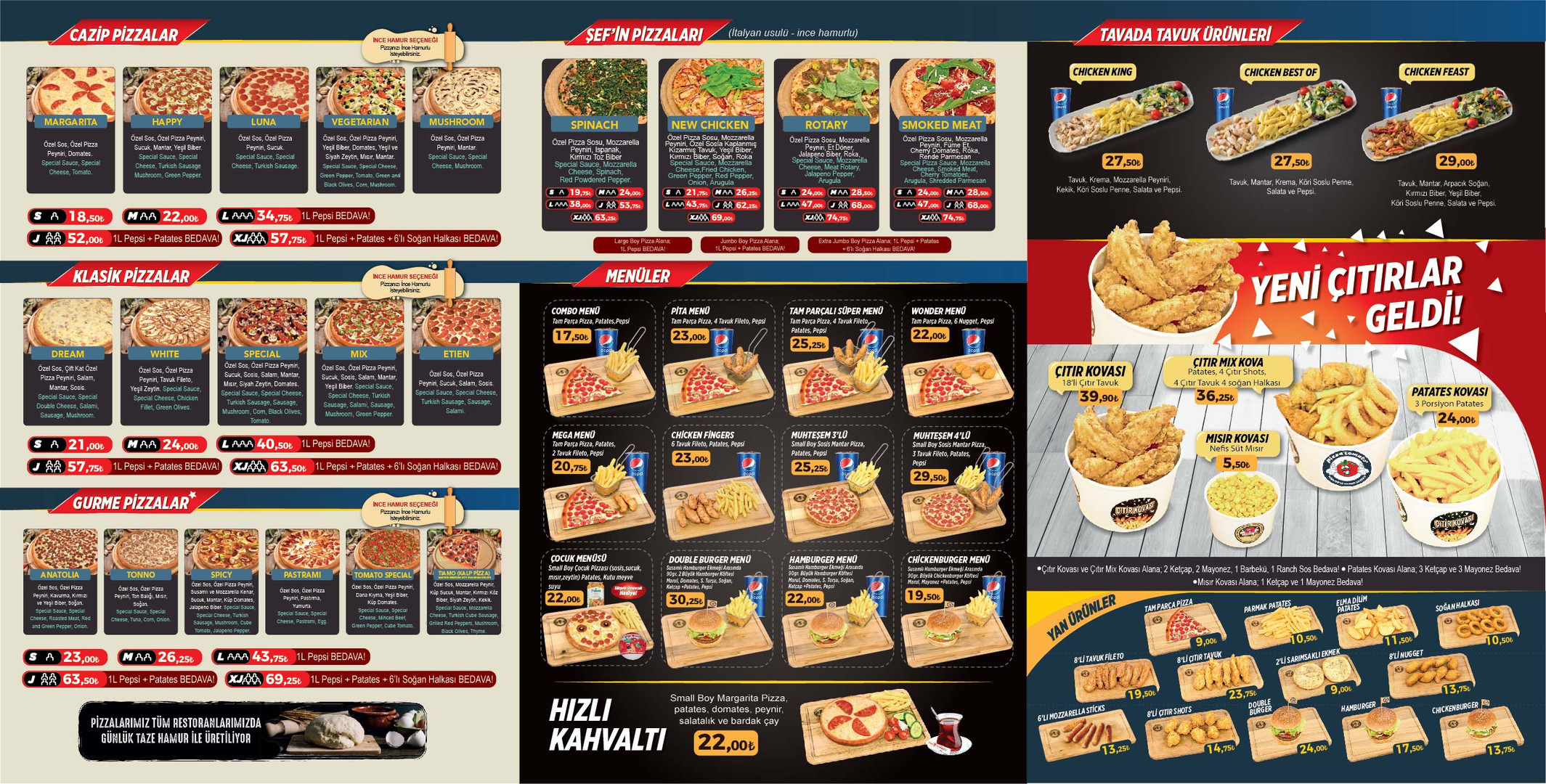 Pizza Tomato denizli merkezefendi menu a