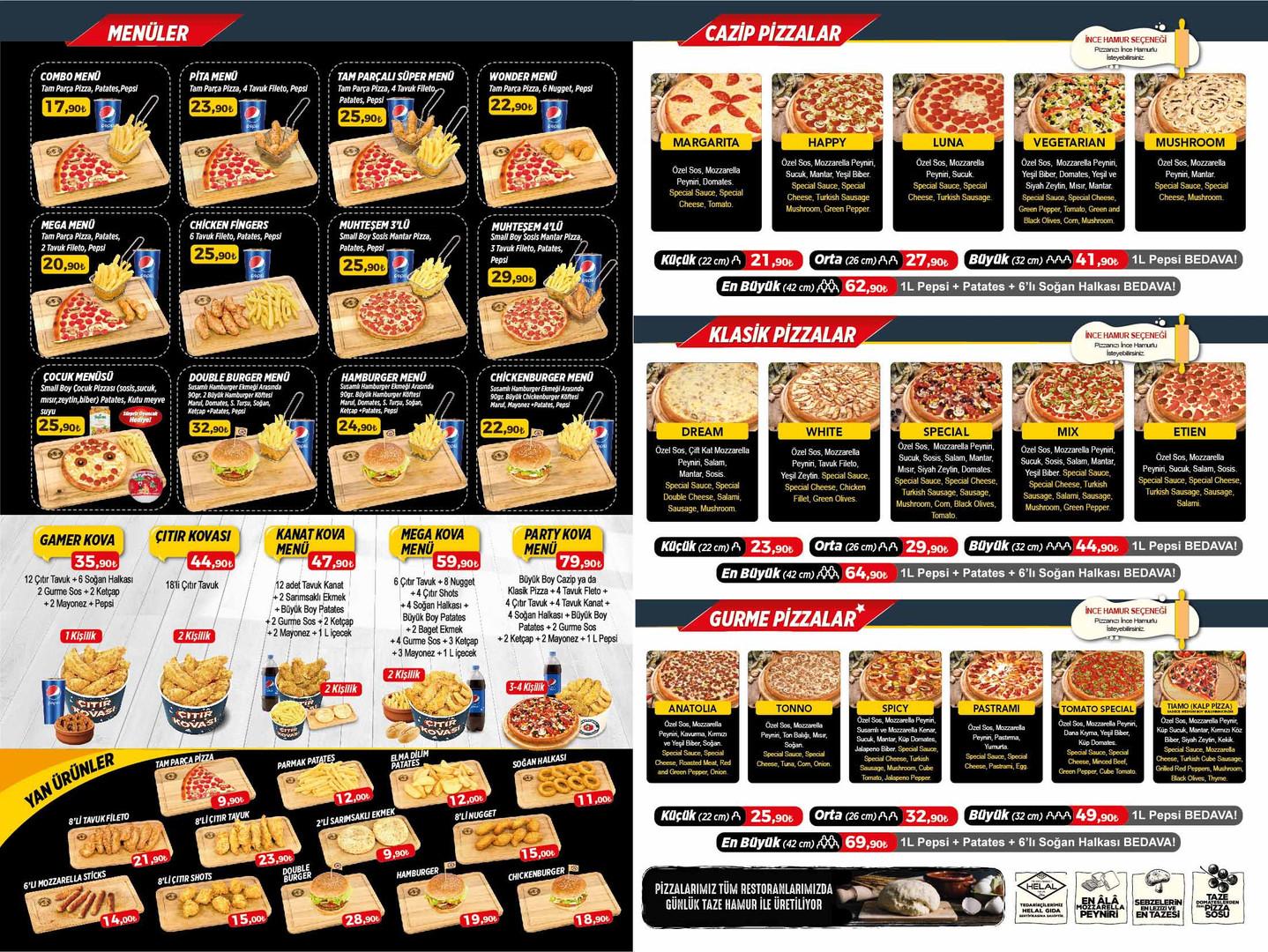 burdur pizza tomato menu ic