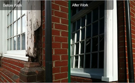before and after sash windows repairs du