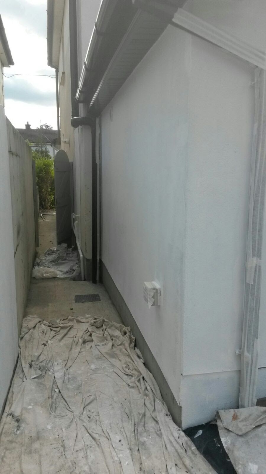 covering before painting ouside rathfarnham  (1)