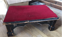 Kneeler Stool, Carpeted top (From St Mary's)