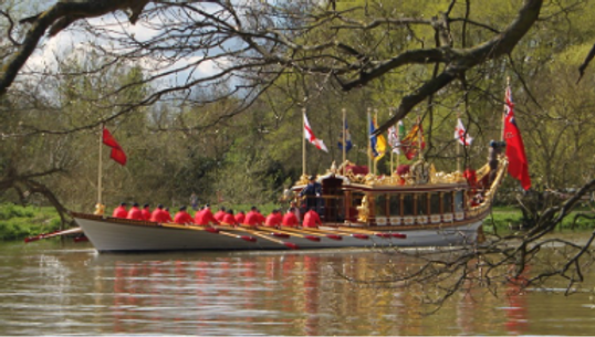 Photograph: The Queen's Barge 'Gloriana'
