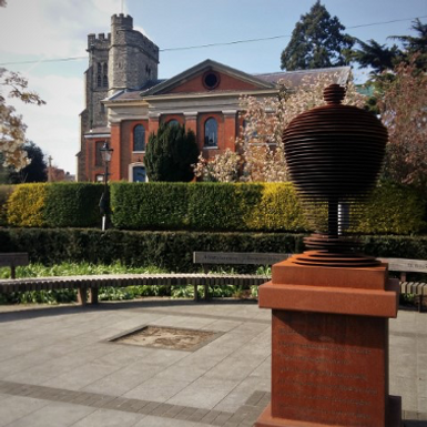 Photograph: Alexander Pope's Urn and St Mary's
