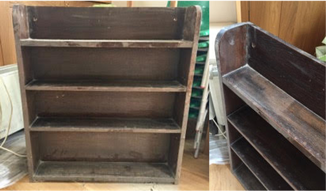 Bookcase with round ends (From St Mary's)