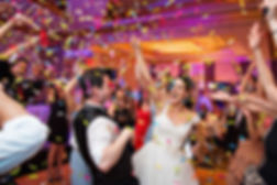 Wedding-Party-at-Recpetion-with-Confetti