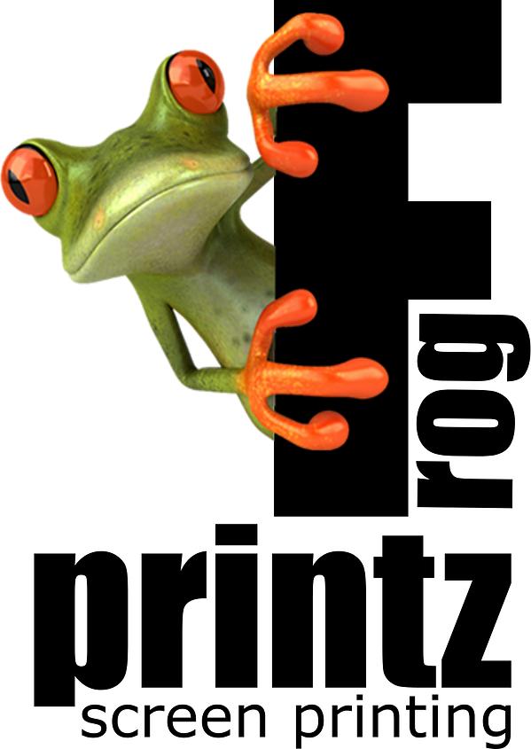 Frog Printz Screen Printing Enterprise, AL original Logo Large